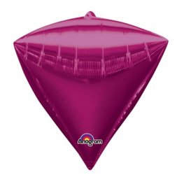 Bright Pink Colour Diamondz Foil Balloon 3pk