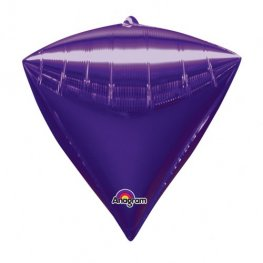 Purple Colour Diamondz Foil Balloon 3pk