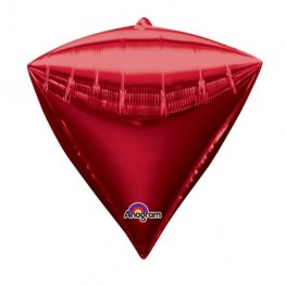 Red Colour Diamondz Foil Balloon 3pk