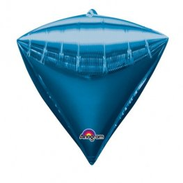 Blue Colour Diamondz Foil Balloon 3pk