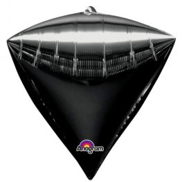 Black Colour Diamondz Foil Balloon 3pk