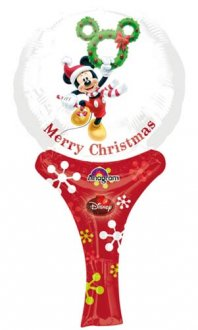 "6"" Mickey Christmas Inflate A Fun Air Filled Foil Balloons"
