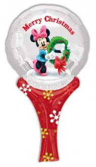 "6"" Minnie Christmas Inflate A Fun Air Filled Foil Balloons"