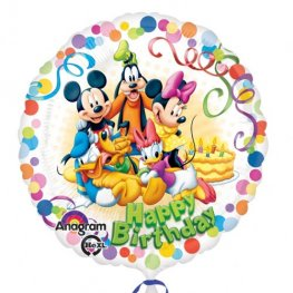 "18"" Happy Birthday Mickey Mouse & Friends Party Foil Balloons"