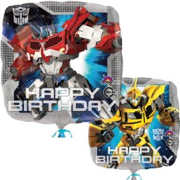 "18"" Transformers Happy Birthday Foil Balloons"