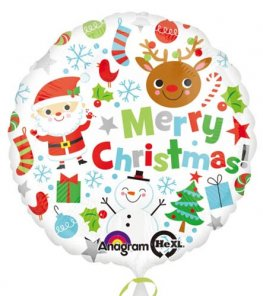 "18"" Merry Christmas Icons Foil Balloons"