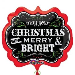 Merry Christmas Chalkboard Supershape Balloons
