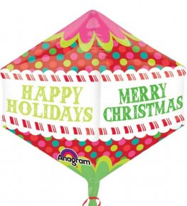 Christmas Colourful Dots Anglez Foil Balloons