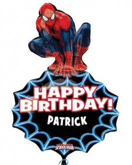 Spider Man Personalised Shape Balloons