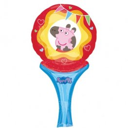 "6"" Peppa Pig Inflate A Fun Air Filled Foil Balloons"