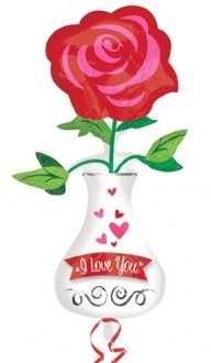 Love You Vase Supershape Balloons