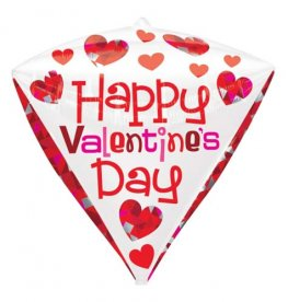 Happy Valentines Day Diamondz Foil Balloons