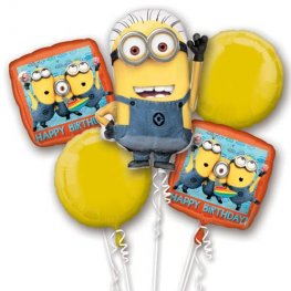 Despicable Me Balloons Bouquet