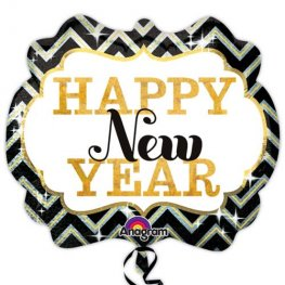 Happy New Year Marquee Supershape Balloons
