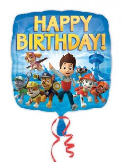"18"" Paw Patrol Happy Birthday Foil Balloons"