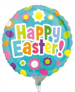 "9"" Easter Fun Air Filled Foil Balloons"