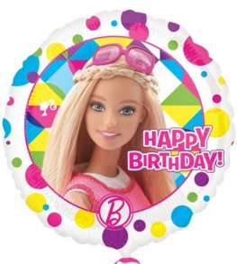 "18"" Barbie Sparkle Happy Birthday Foil Balloon"