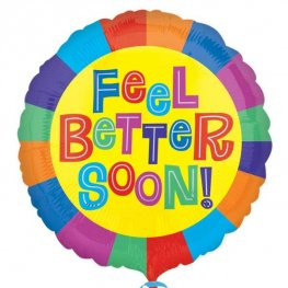 "18"" Bright Feel Better Soon Foil Balloons"