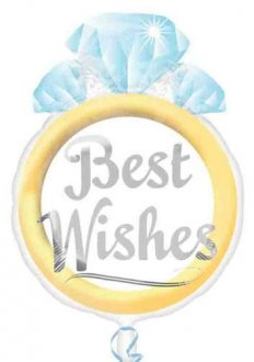 "18"" Best Wishes Junior Shape Foil Balloons"