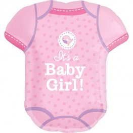 Shower With Love Baby Girl Supershape Balloons