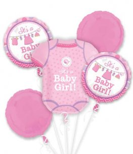 Shower With Love Girl Balloons Bouquet