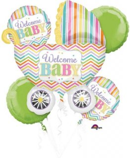 Baby Brights Welcome Baby Balloons Bouquet