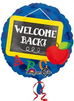 "18"" Welcome Back Chalkboard Foil Balloons"