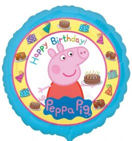 "18"" Peppa Pig Birthday Foil Balloons"