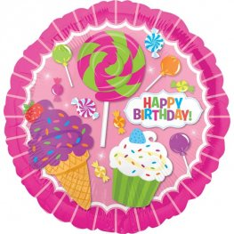 "18"" Sweet Shop Birthday Foil Balloons"