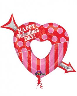 Open Heart With Arrow Supershape Balloons