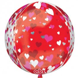 Floating Hearts Orbz Foil Balloons