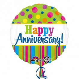 "18"" Bright Anniversary Foil Balloons"