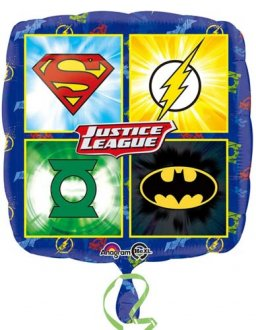 "18"" Justice League Emblems Foil Balloons"