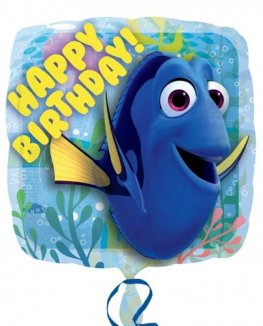 "18"" Finding Dory Happy Birthday Foil Balloons"