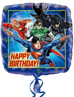 "18"" Justice League Happy Birthday Foil Balloons"