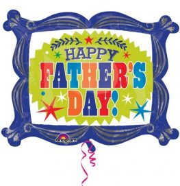 Happy Fathers Day Frame Supershape Balloons