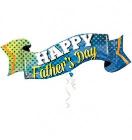 Happy Fathers Day Banner Supershape Balloons