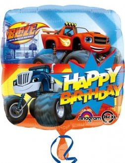 "18"" Blaze Happy Birthday Foil Balloons"