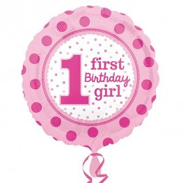 "18"" 1st Birthday Girl Foil Balloons"
