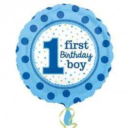 "18"" 1st Birthday Boy Foil Balloons"