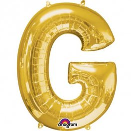 "16"" G Letter Gold Air Filled Balloons"
