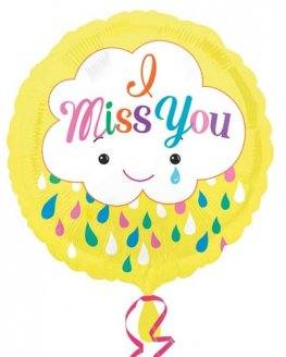 "18"" Miss You Clouds Foil Balloons"