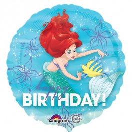 "18"" Ariel Dream Big Birthday Foil Balloons"