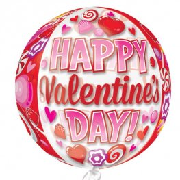 Happy Valentines Day Candy Orbz Foil Balloons