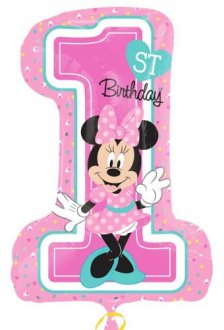 Minnie Mouse 1st Birthday Supershape Balloons
