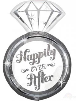 Happily Ever After Ring Supershape Balloons