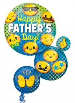 Happy Fathers Day Emoji Supershape Balloons