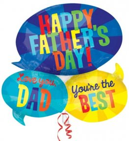 Happy Fathers Day Messages Supershape Balloons