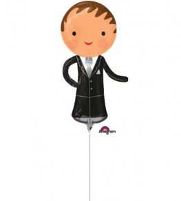 "13"" Handsome Groom Mini Shape Balloons"