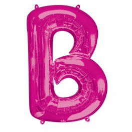 Pink Letter B Supershape Balloons
